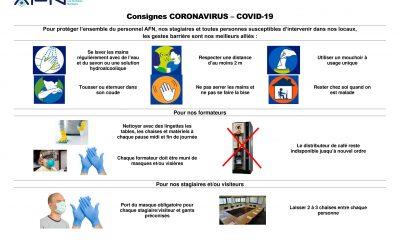 Consigne Coronavirus